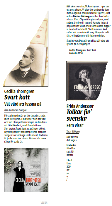Skandinaviska musikmagasinet Viser/Visor november, december 2018