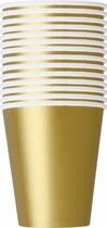 Pappersmuggar 266ml 14p gold -
