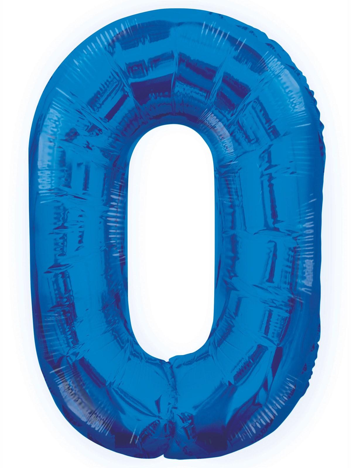 Folieballong 86cm siffra blå 0  49kr