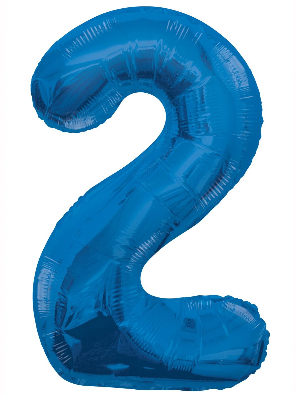 Folieballong 86cm siffra blå 2  49kr