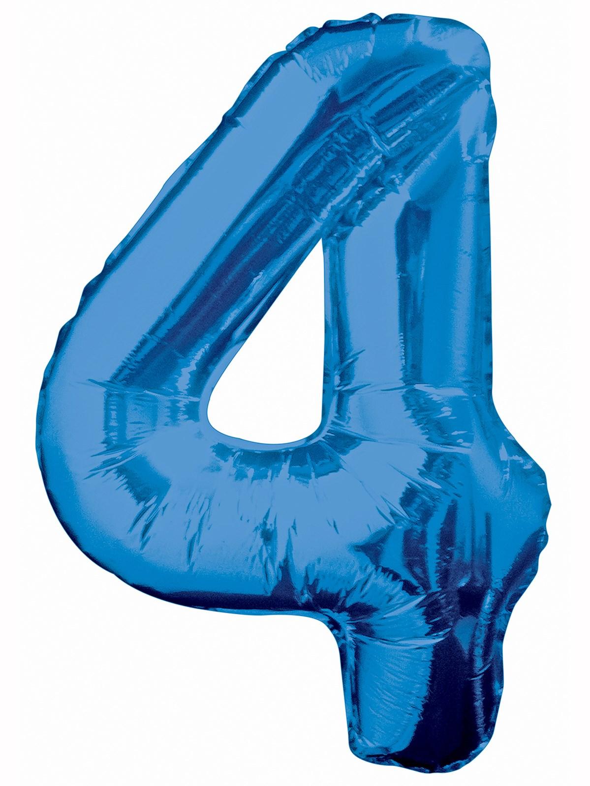 Folieballong 86cm siffra blå 4  49kr