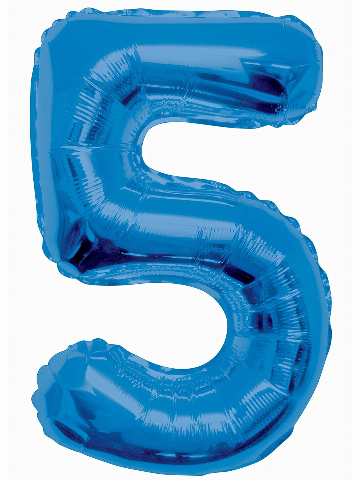 Folieballong 86cm siffra blå 5  49kr