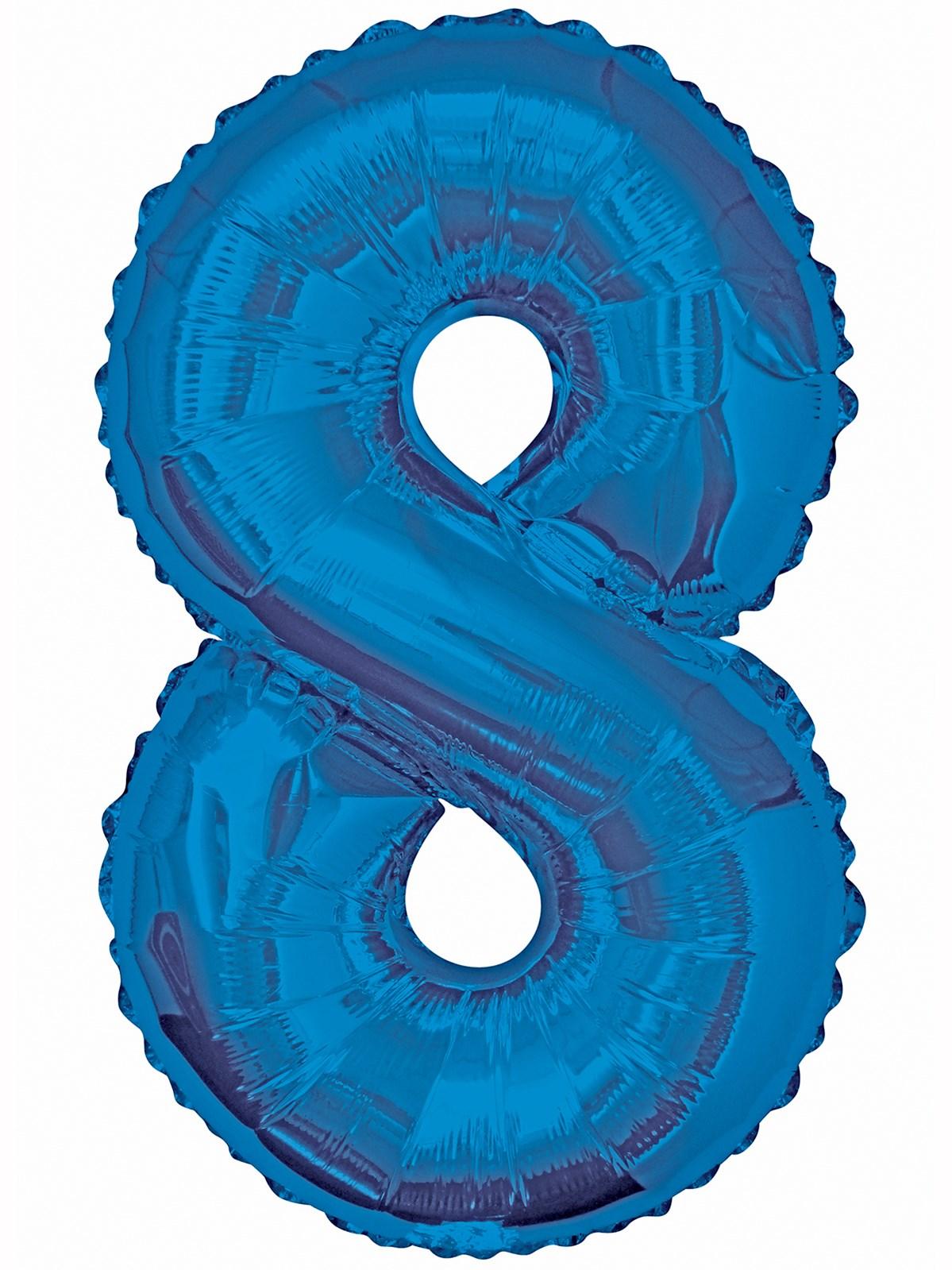 Folieballong 86cm siffra blå 8  49kr