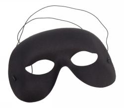 Ansiktsmask svart halv vuxna -