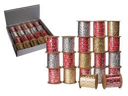 Band med glitter 10mmx3m Röd -
