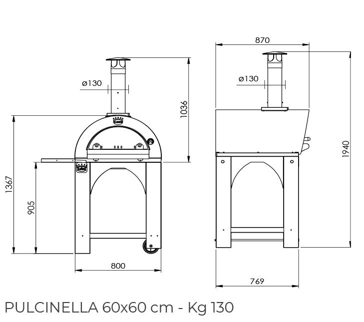 Pulcinella 60x60