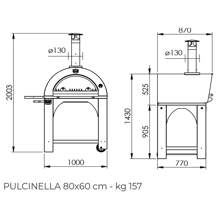 Pulcinella 80x60