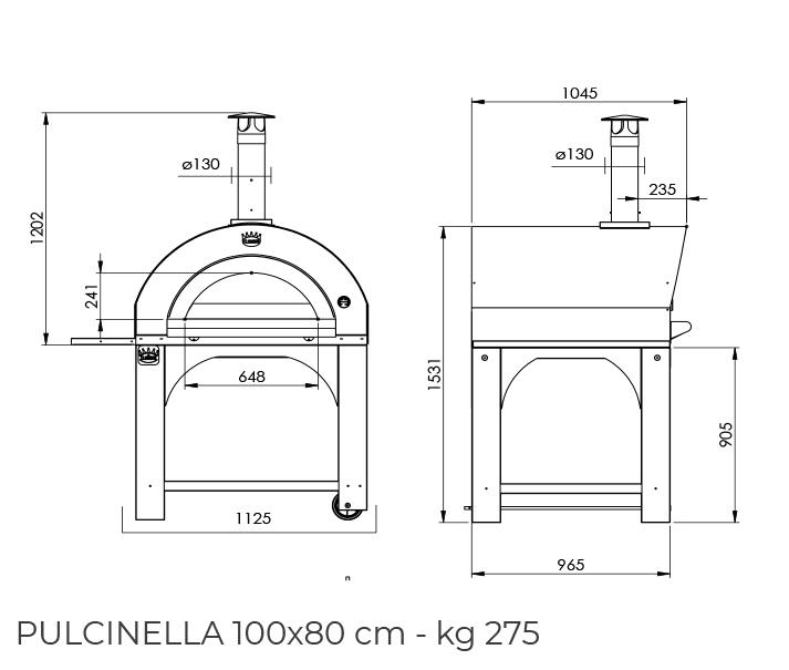 Pulcinella 100x80