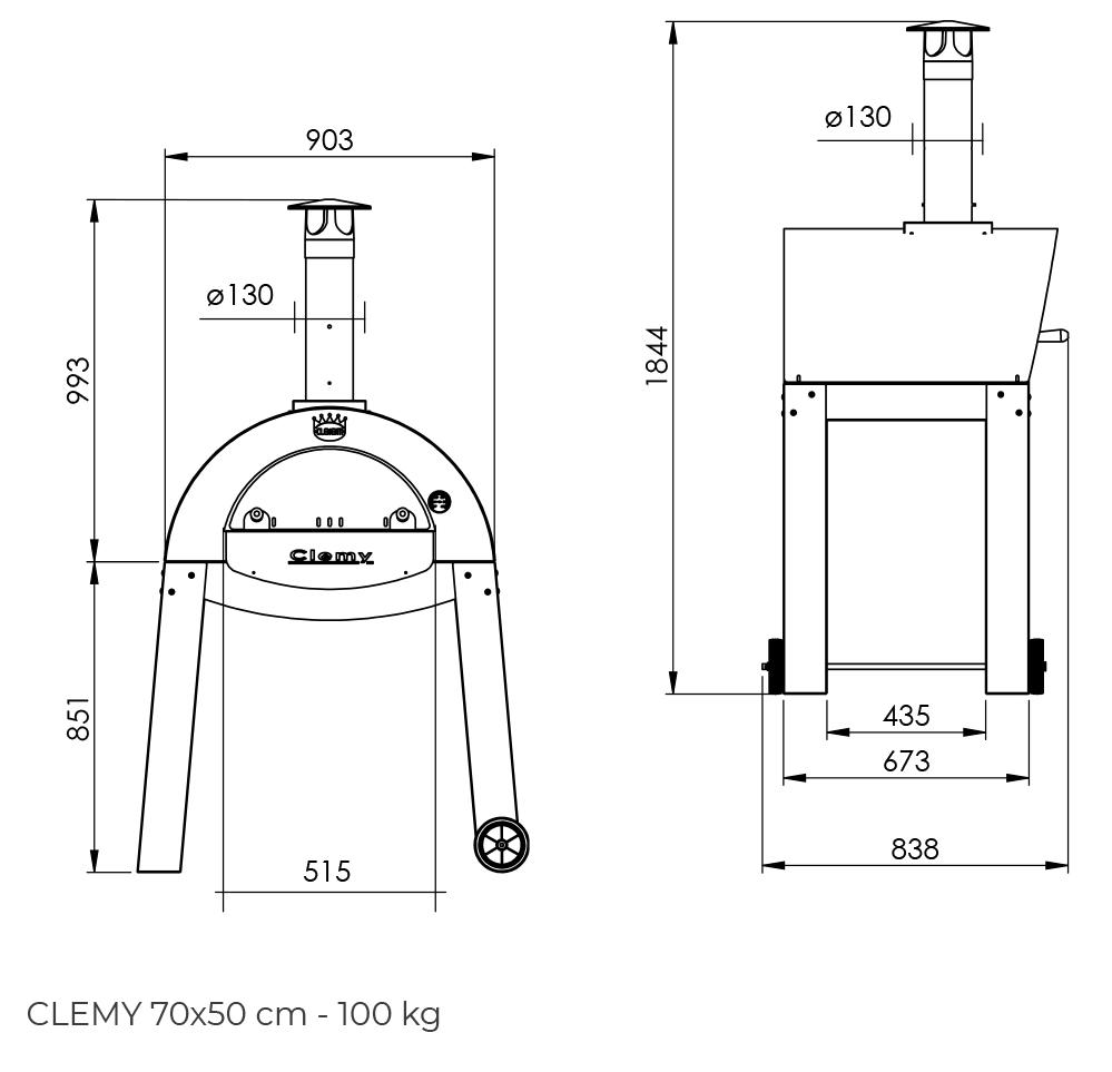 Clementi Clemy 70x50 cm