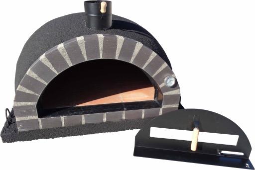 Forno Deluxe Pizza svart, grått tegel