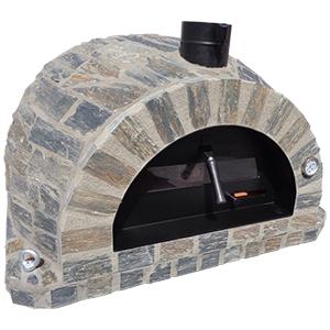 Forno Pizza Stone Premium - Pizzaugn | Vedugn | Stenugn - 100x100 cm grå - Stone Pizza