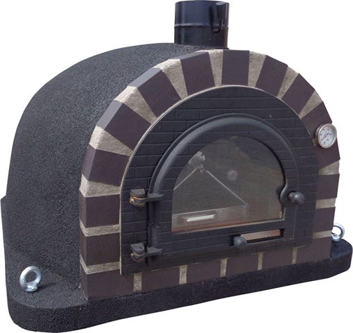 Pizzaugn | VedPizzaugn | Vedugn | Stenugn Forno Deluxe svart med svart tegelugn | Stenugn Forno Deluxe svart