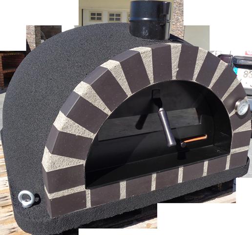 Pizzaugn | Vedugn | Stenugn Forno Deluxe svart med svart tegel