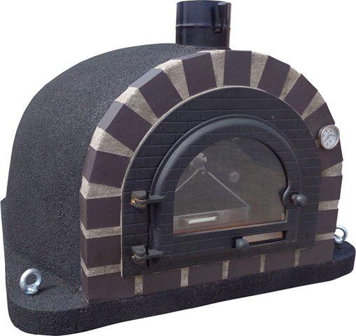 Pizzaugn | Vedugn | Stenugn Forno Deulxe svart med svart tegel