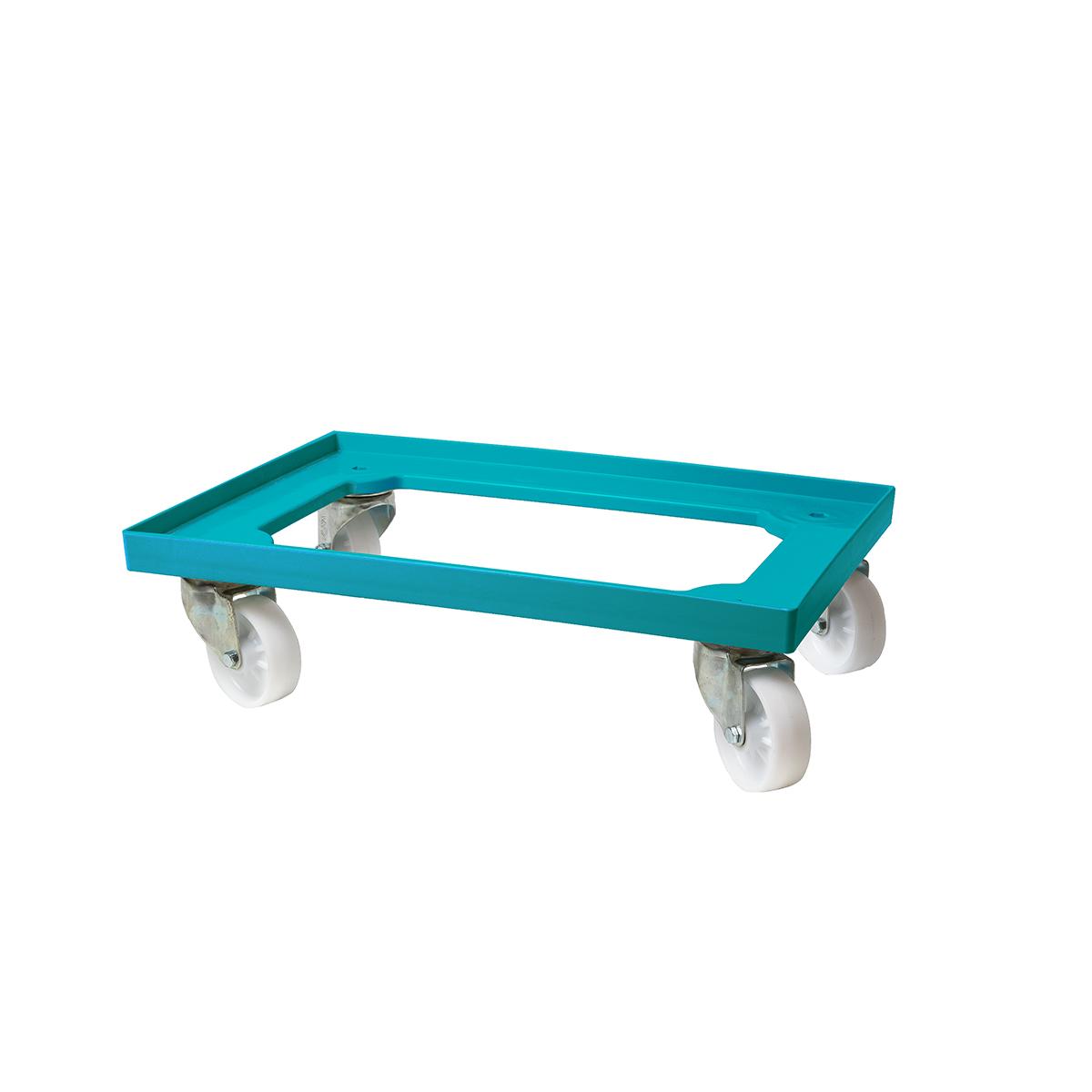 Vagn till deglådor turkos