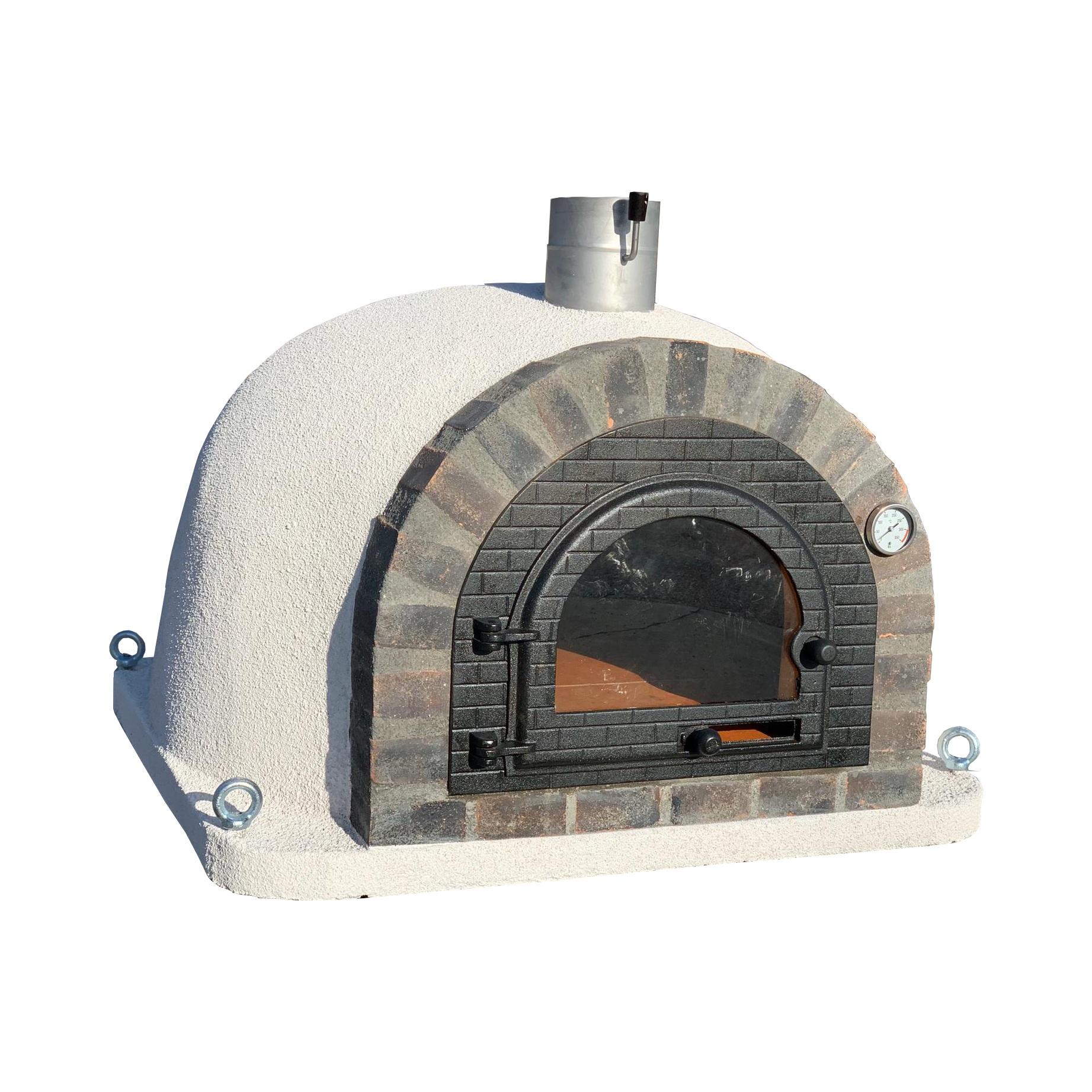 Pizzaugn | Vedugn | Stenugn med svart rustikt tegel
