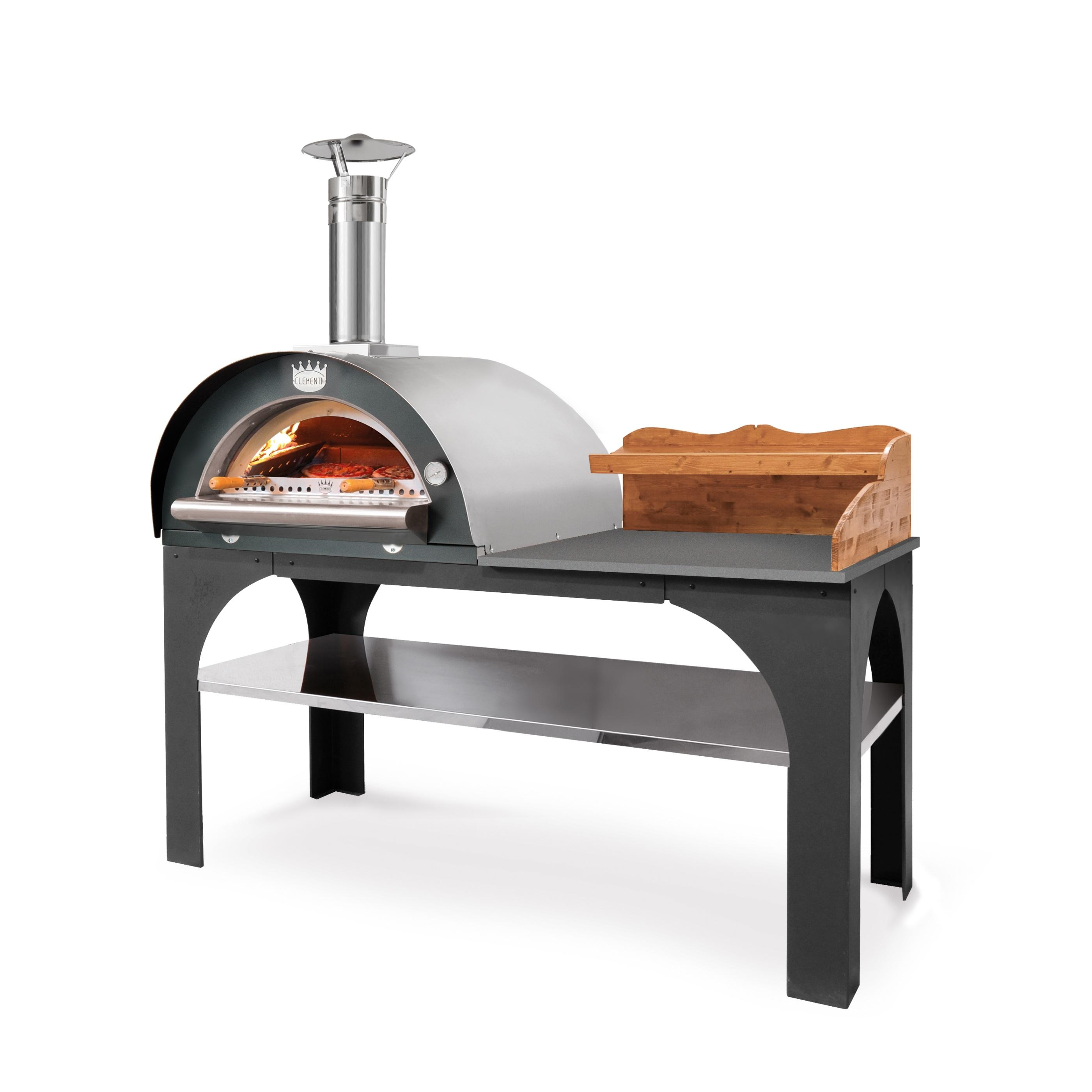 Pizza Party - tak och hylla i rostfritt stål