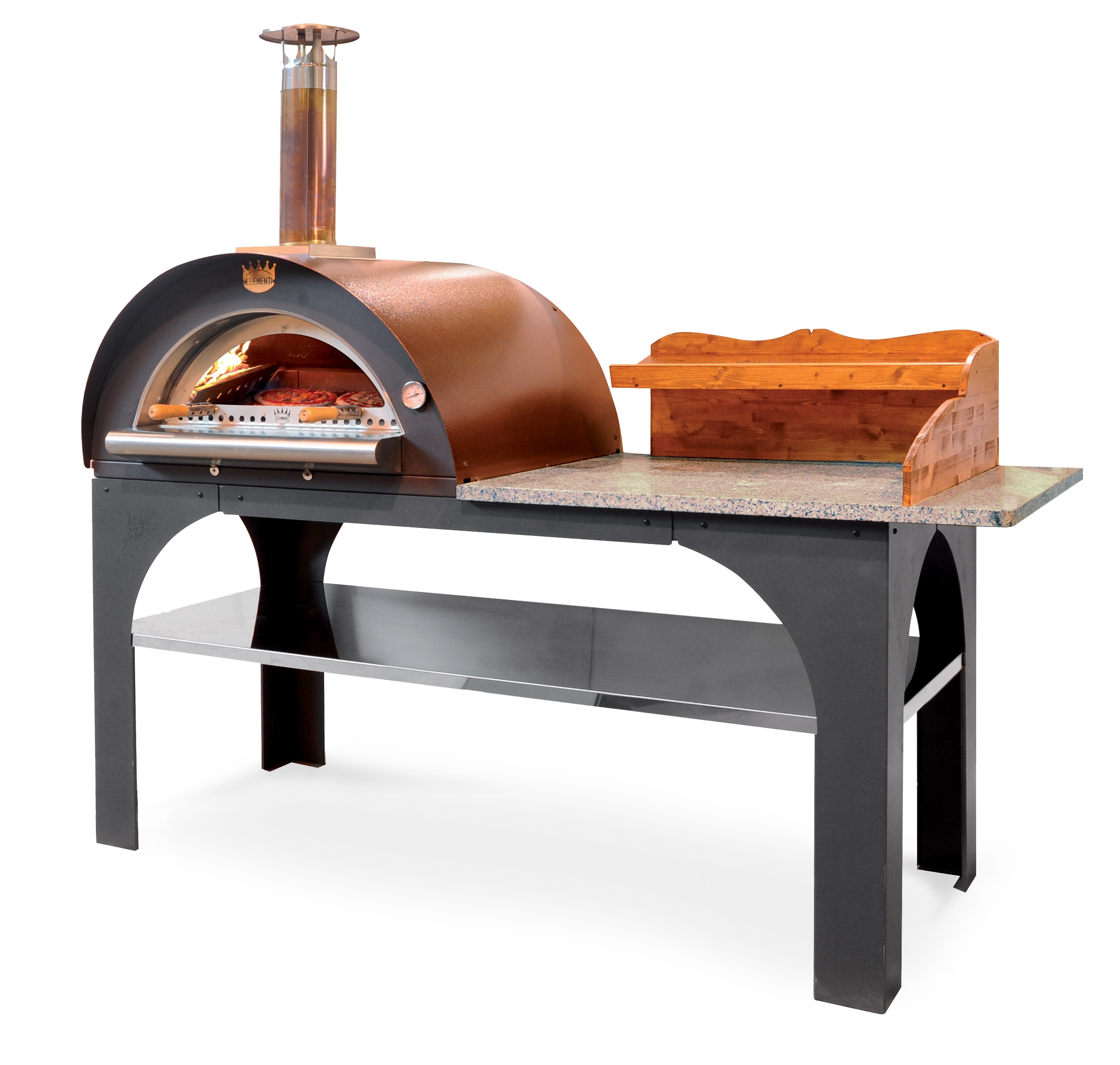 Pizza party med granitskiva & trähylla (tillval)