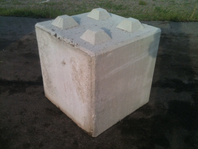 Kuskatorpets betongblock 80x80x80