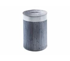 Tvättkorg i bambu, 2 färger - grå