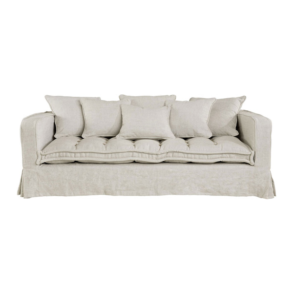 Greenwich soffa artwood billigt linen sand 3 sits