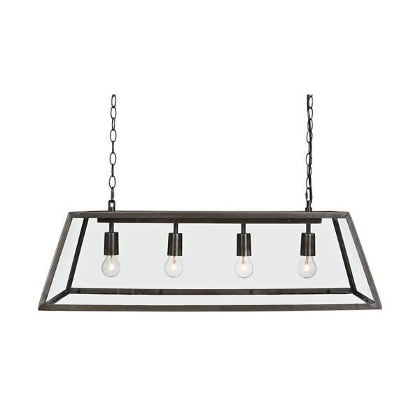 metro artwood taklampa industriell metall 4 glödlampor billigt