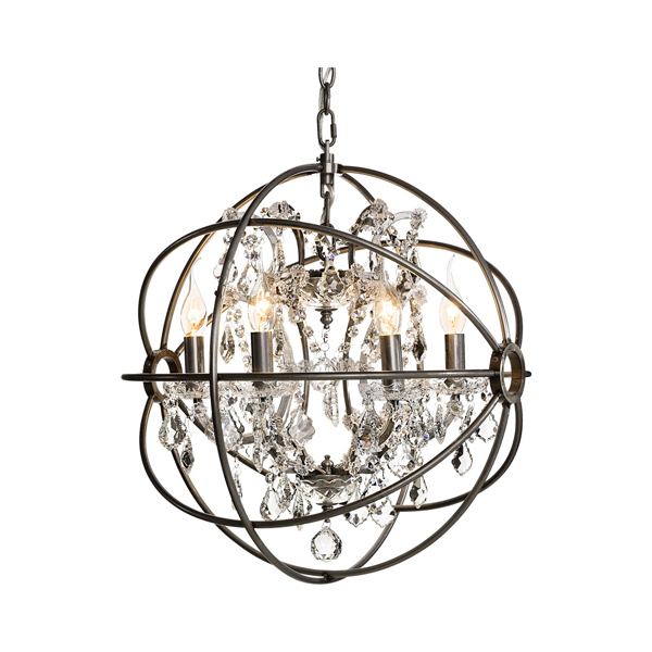 Gyro crystal small silver artwood billigt taklampa takkrona