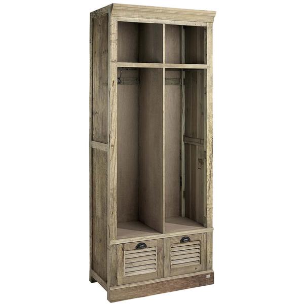 elmwood cabinet artwood billigt återvunnet trä öppet skåp garderob detaljer