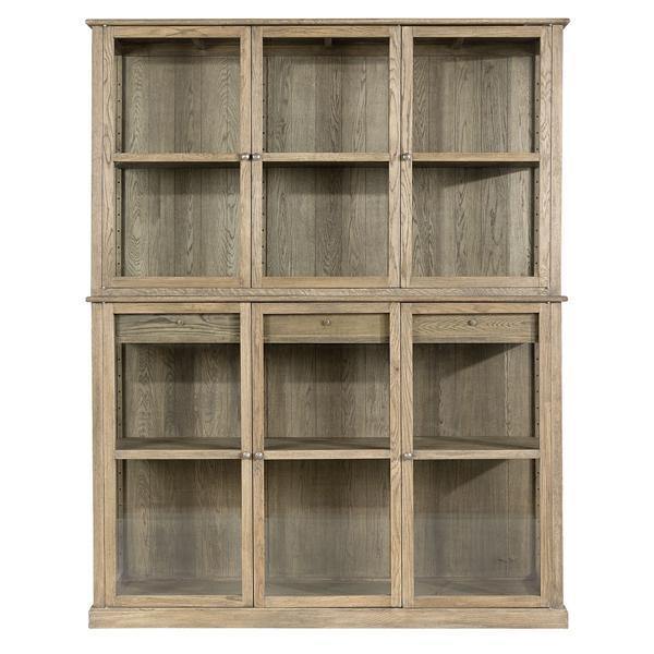 denver cabinet skåp hylla hyllplan återvunnet trä massivt skåp glas artwood inredning billigt