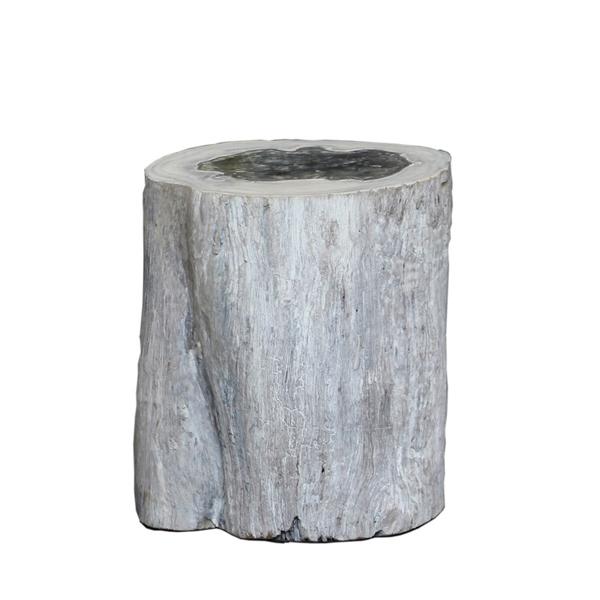 colorado log sidetable stool sidobord pall artwood trä betong billigt liten
