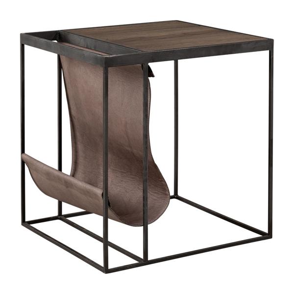 MAGAZINE Sidetable sidobord artwood läder trä billigt