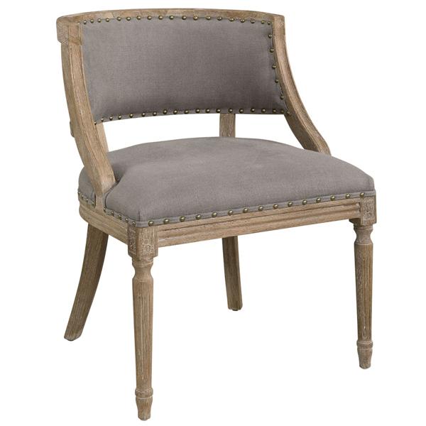 MAPLE Armchair Linen Grey