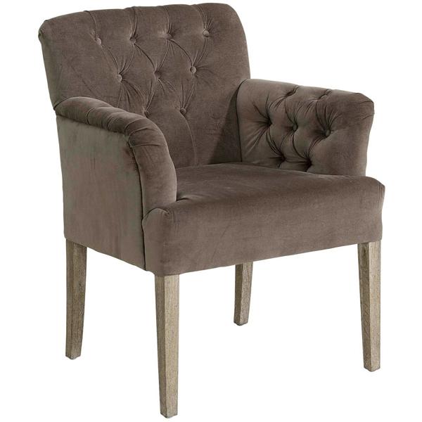 STAMFORD Armchair Velvet Brown