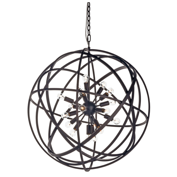 NEST Ceiling lamp black Large taklampa artwood