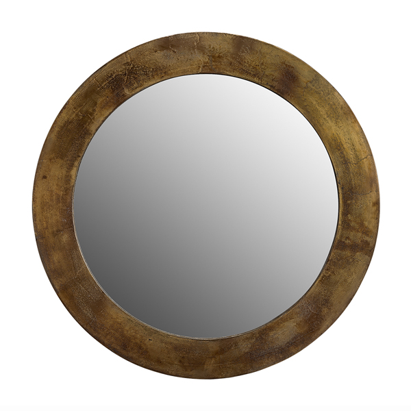 ENYA Mirror round vintage brass