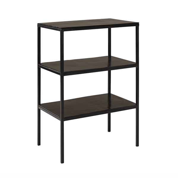 MILLE Side table 3 hyllplan black