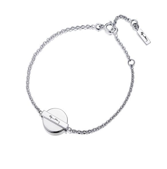Silver Coin Bracelet 14-100-01036(2)