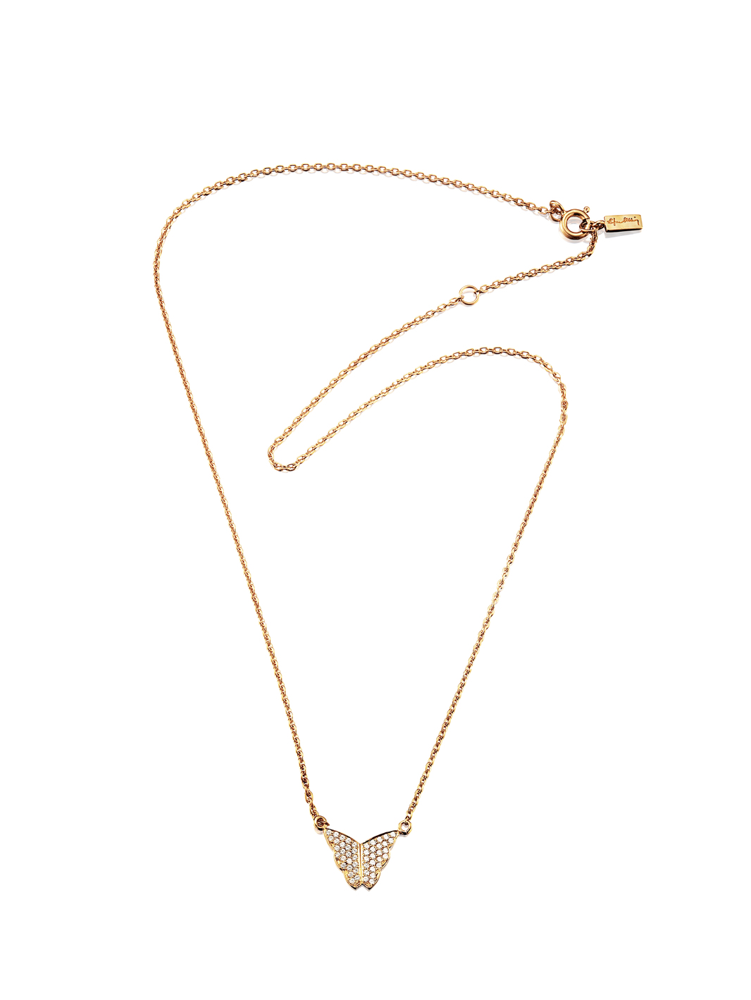 Little Miss Butterfly & Stars Necklace 10-101-01018(1)