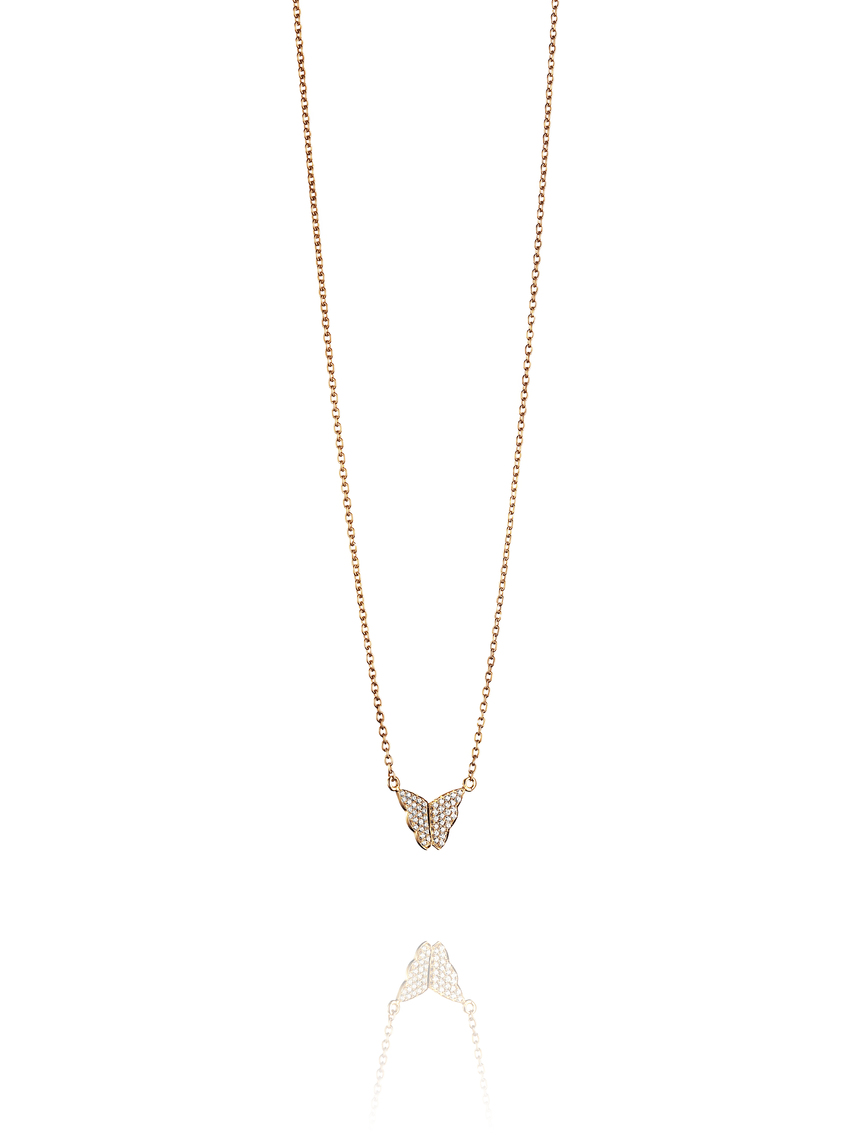 Little Miss Butterfly & Stars Necklace 10-101-01018(2)