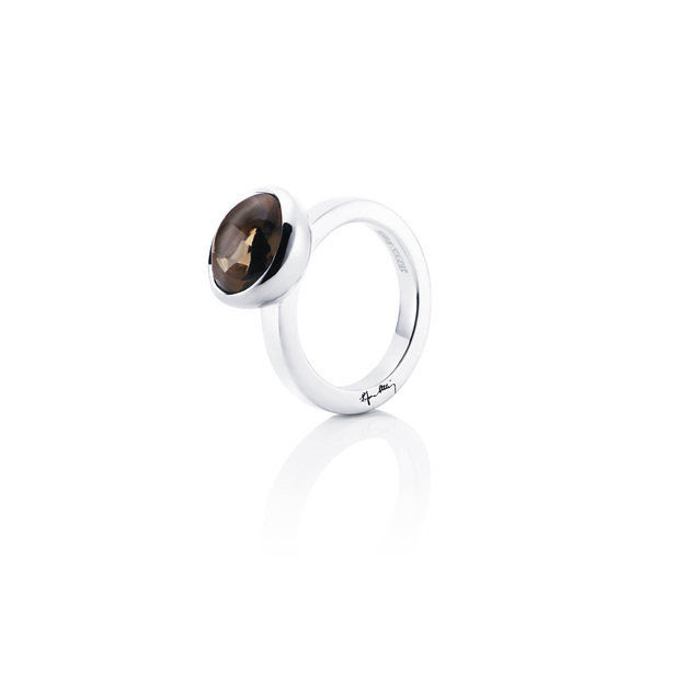 Love Bead Grande Ring - Smokey Quartz 13-100-00446(1)
