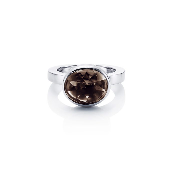 Love Bead Grande Ring - Smokey Quartz 13-100-00446(3)