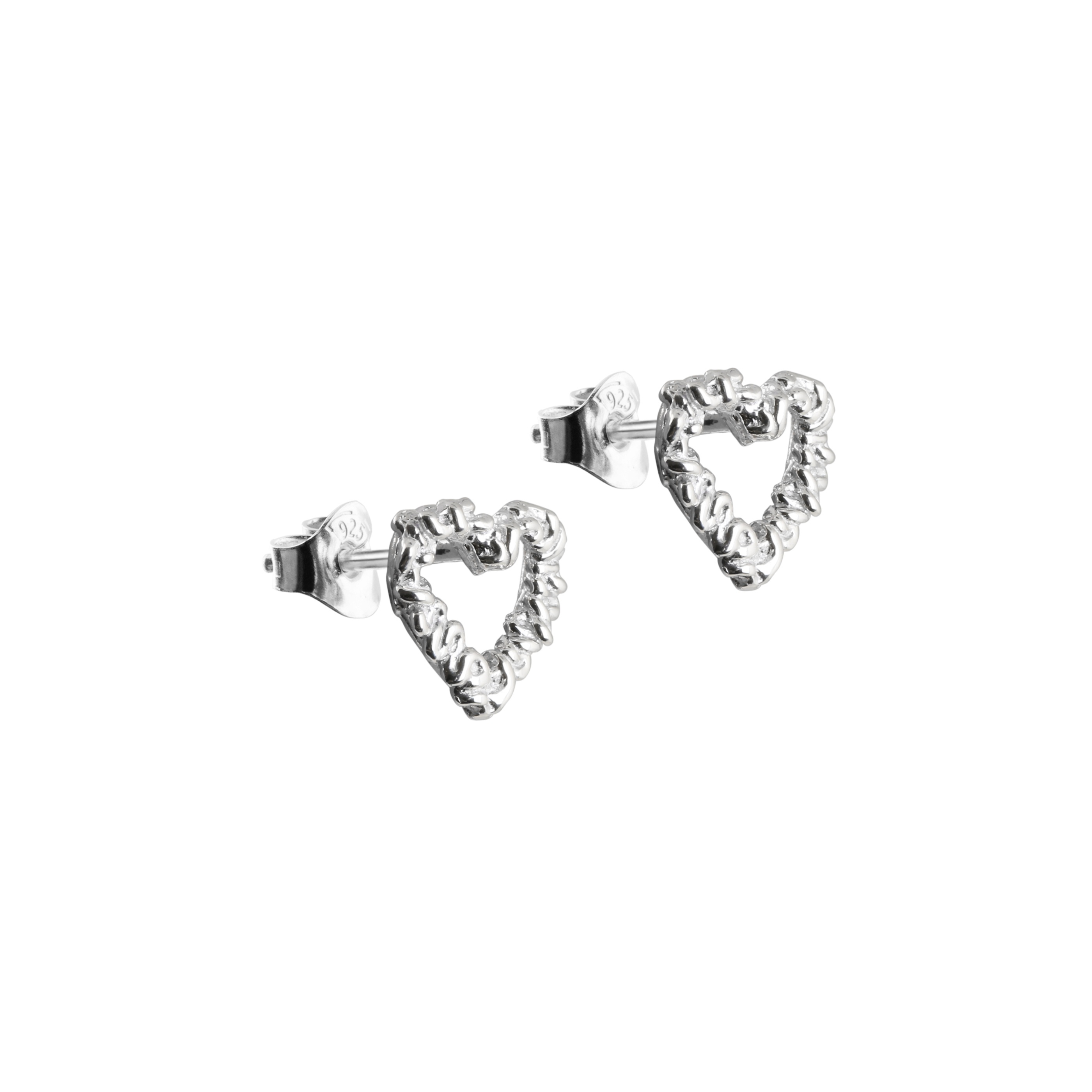Silver Heart Earrings B
