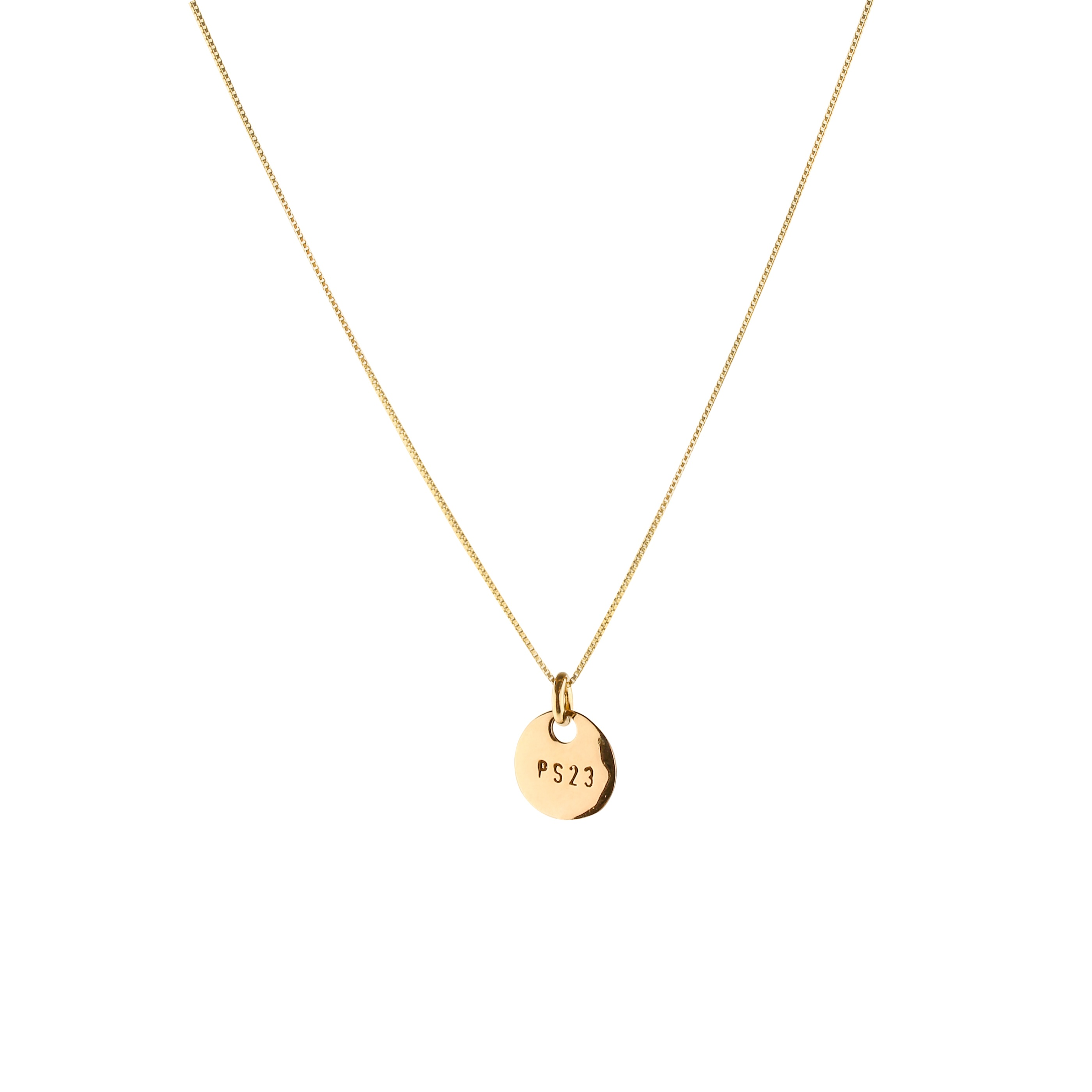 Ps23 golden bronze small coin necklace(short chain)
