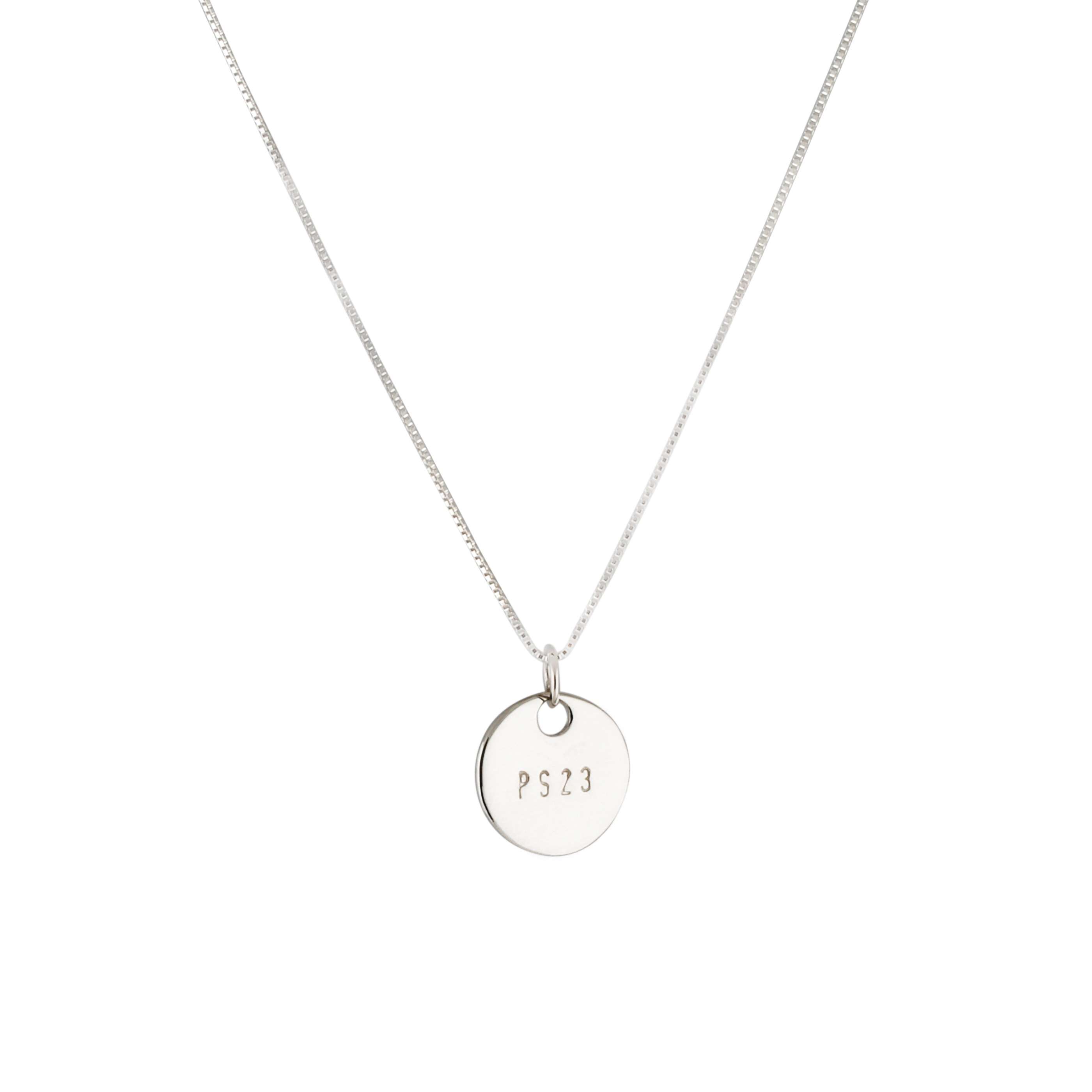 Ps23 silver small coin Necklace