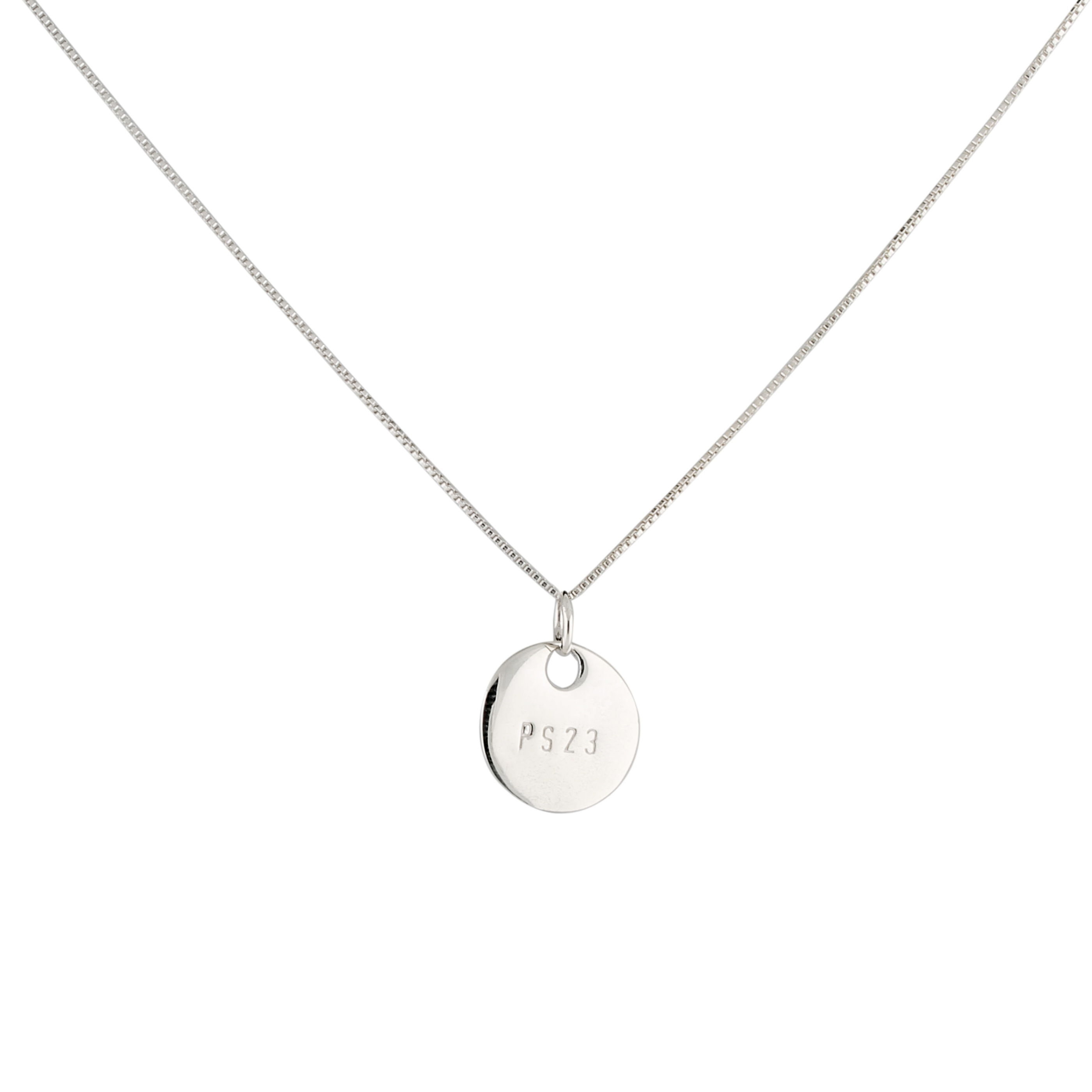 Small coin Ps23 necklace (short chain)