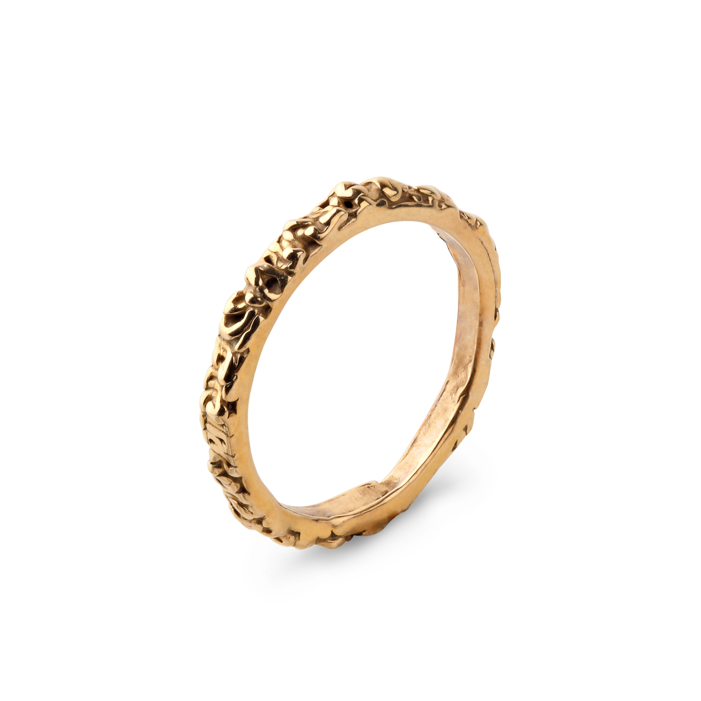 Thin band golden ring.