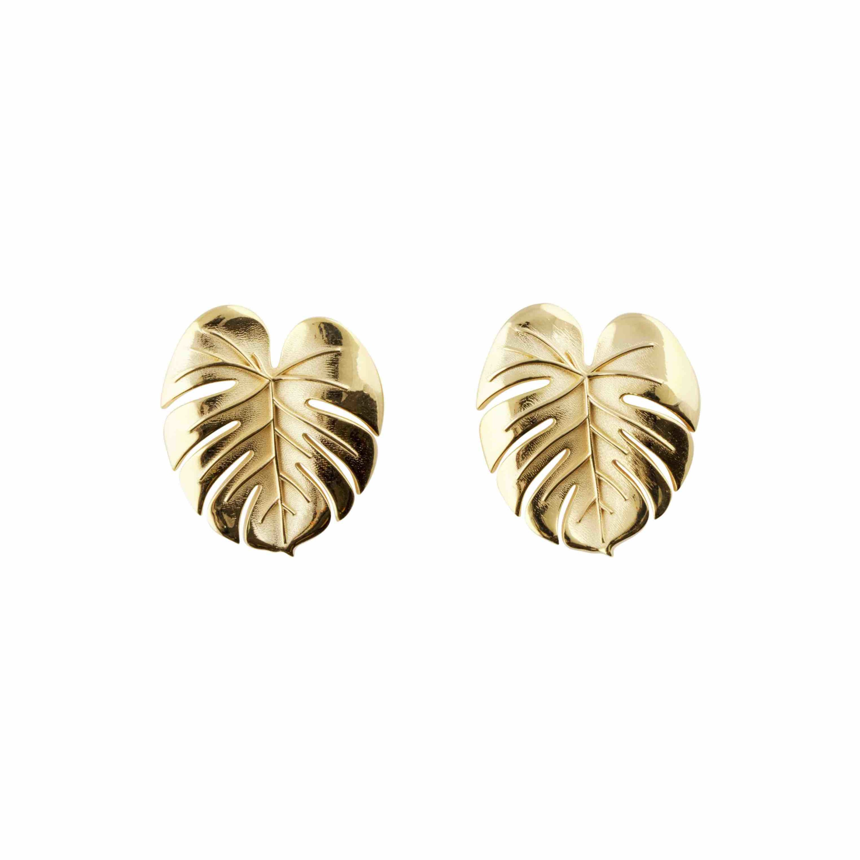 Palm Leaf earrings S gold