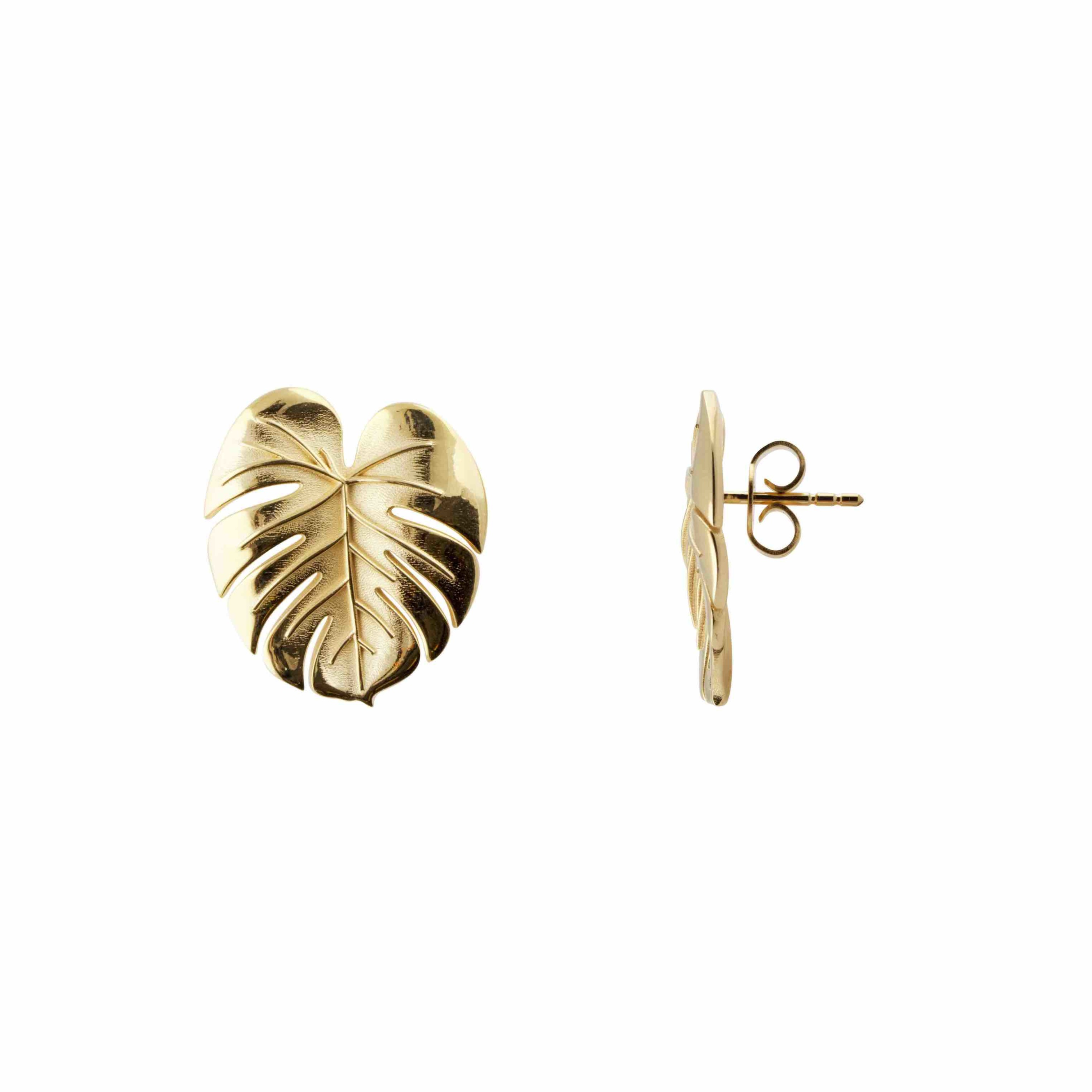 Palm Leaf earrings S gold B