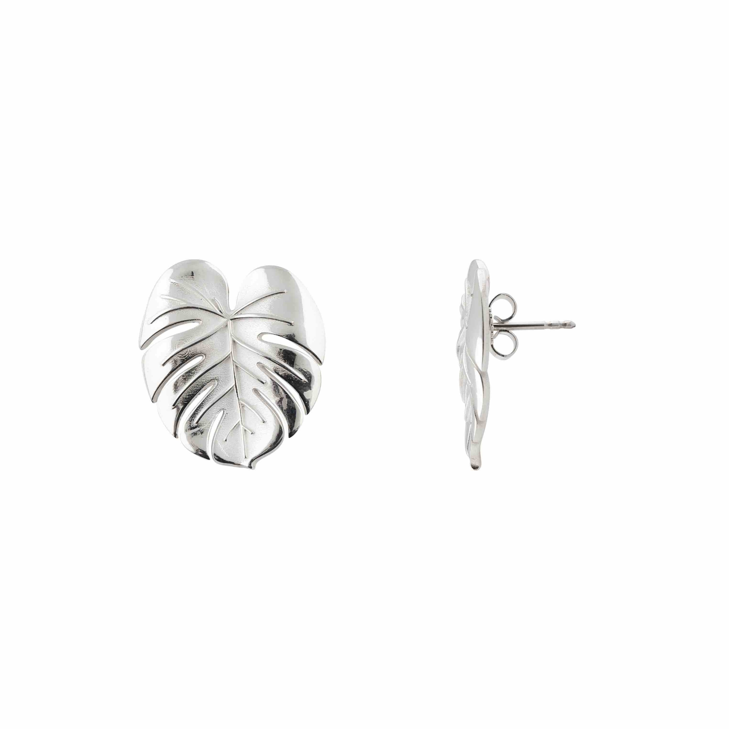 Palm Leaf earrings s silver B