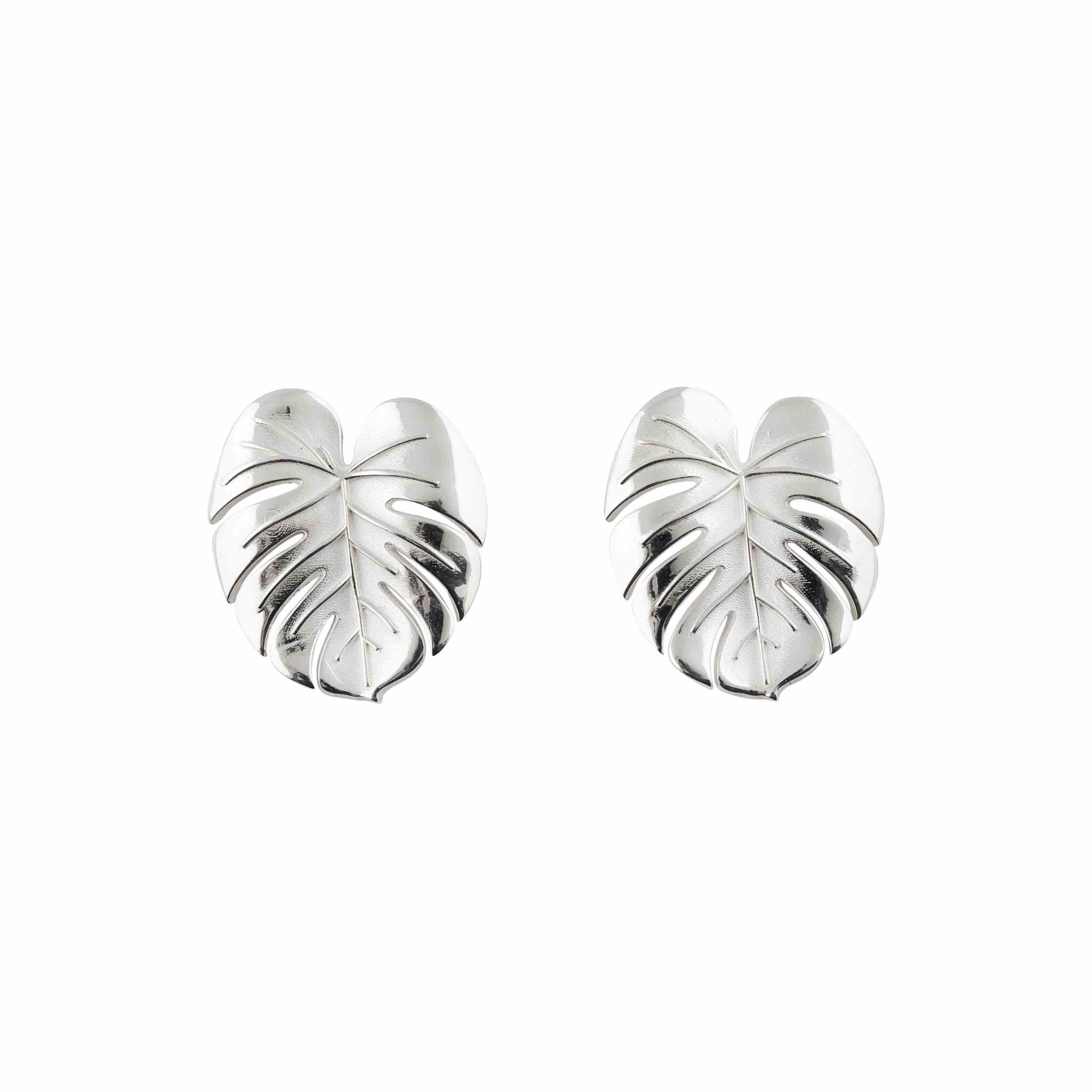Palm Leaf earrings S silver